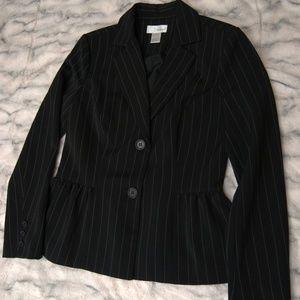 Spiegel peplum pinstripe blazer